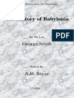 The History of Babylonia Ed by a H Sayce