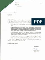 3 levél a MET részéről
