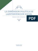 La Dimension Politica de La Intervencion Social