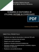Scanarea Si Digitizarea 3D Utilizand Sisteme in Coordonate