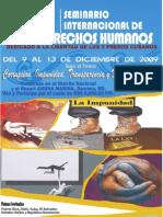 Afiche XII Seminario Internacional de DDHH