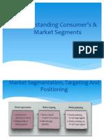 Understanding Consumers & Mkt Segments