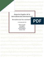 Aspectos Legales de La Mercadotecnia Internacional
