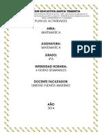 Plan de Actividades Matematica 2013
