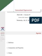 Generalized Eigenvectors