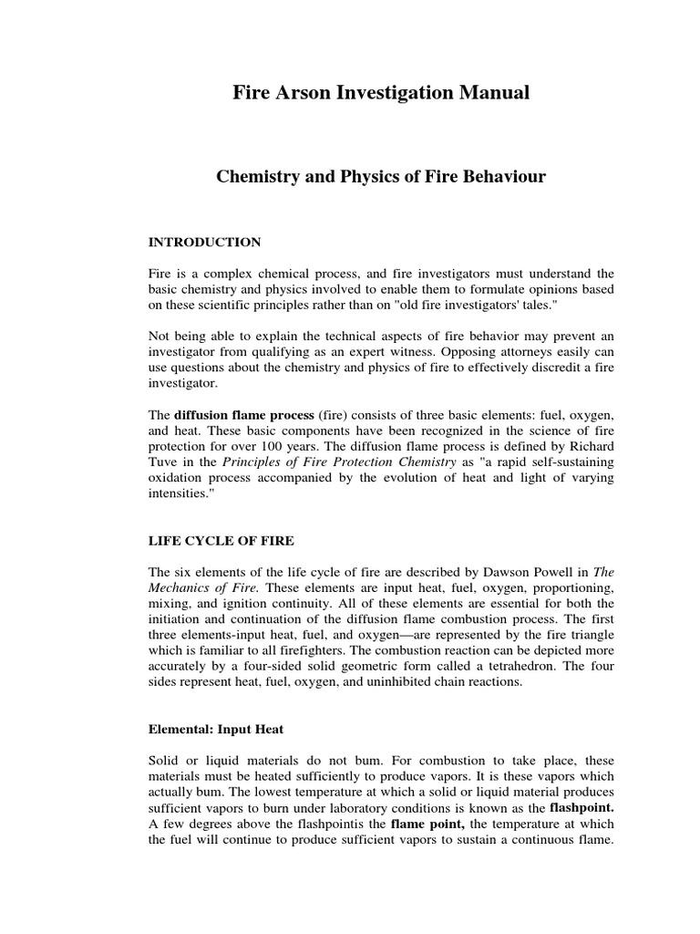 fire arson investigation manual fire sprinkler system framing rh scribd com