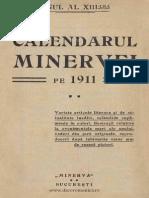 Calendarul Minerveiu Pe Anul 1911, Mica Enciclopedie Populara a Vietii Practice, 13, 1911