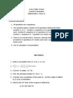 Annual Maths