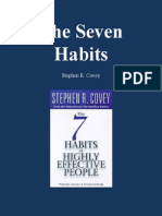 Application of the Seven Habits by Steven Covey