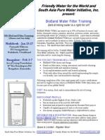 2014 Biosand Filter Training