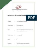 Actividad de Responsabilidad Social o Pastoral Universitaria