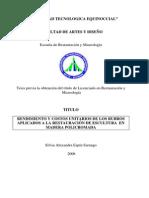 28402_1RENDIMIENTO Y COSTOS UNITARIOS DE LOS RUBROS APLICADOS A LA RESTAURACIÓN DE ESCULTURA EN MADERA POLICROMADA Silvia Alexandra Espin Sarango