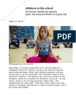 Bringing Mindfulness to School 06-15-14