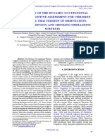 Reliability of the Dynamic Occupational Therapy Cognitive Assessment for Children (DOTCA-Ch) Thai Version of Orientation, Spatial Perception, And Thinking Operations Subtests