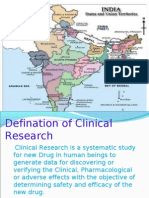 Clinical Research in India