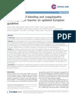 Management of Bleeding and Coagulopathyfollowing Major Trauma