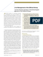 2013 ASA Guidelines Difficult Airway