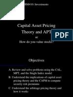Bm410-10 Theory 3 - Capm and Apt 29sep05