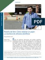 Enrique Sanchez Costa. Reseña de Como Redactar Un Paper