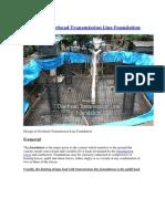 Design of Overhead Transmission Line Foundation.docx