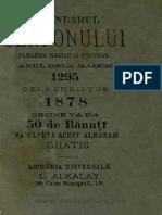 Almanah Hazliu Pe Anul de La Mahomet 1295, De La Christos 1878