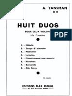Tansman, A. - 8 Duos Para Dois Violinos