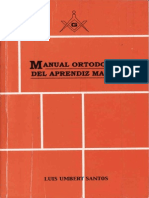 Luis Umbert Santos--manual Ortodoxo Del AP Masón