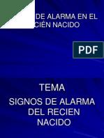 Signos de Alarma