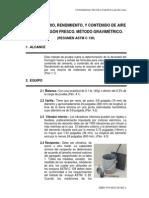 Resumen ASTM C138