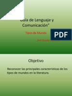 Guía de Lenguaje y Comunicación Tipos de Mundo