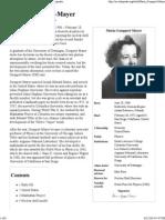 Maria Goeppert-Mayer - Wikipedia, The Free Encyclopedia