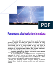 Fenomene Electrice in Natura