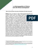 CHINA AFRICA CRITCAL PE Geopolitics_power_mohan