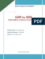 GDP vs. HDI