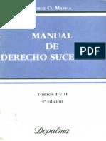 120299397 Manual de Derecho Sucesorio Jorge Maffia