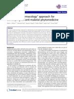 Malaria Medicine Reverse Pharmacology