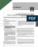 Responsabilidad Civil Médica. Criterios de Imputación (Factores de Atribución) y El Dilema Sobre Su Contractualización