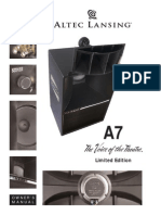 Altec Lansing Voice of the Theater A7 Manual