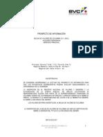 Prospecto de Informacion BVC Acciones Ordinarios