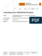 Lubricating Oils for Wartsila 46 Engines 091021