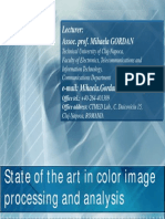 Lecture - State of the Art in Color Image Processing and Analysis