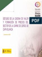Estudio Cadena de Valor de Carne de Cerdo de Capa Blanca España
