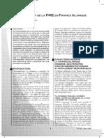 Le Financement de La Pme en Finance Islamique