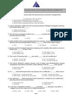 Sample Proficiency Test