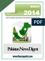 Pakistan News Digest March - 2014