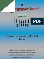 B02) Test Di Stroop