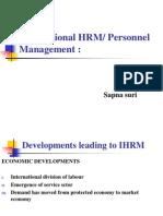 International HRM or Personnal Management