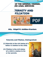 AAA. Paternity and Filiation March 2014