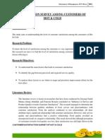 market research survey report