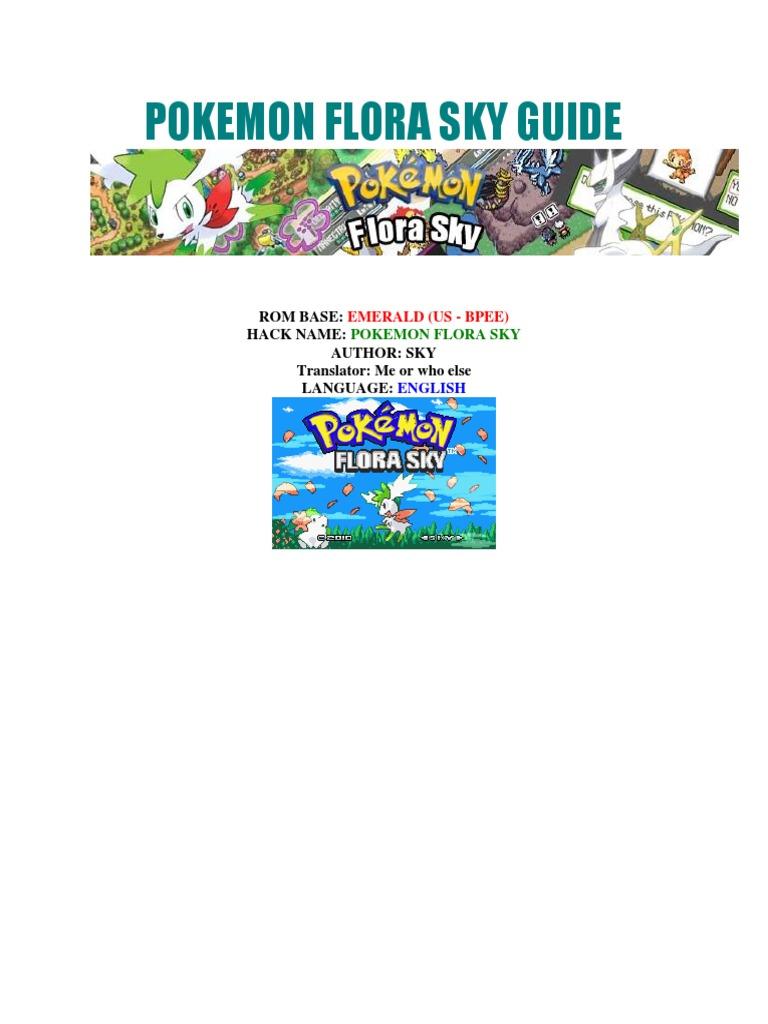 Pokemon Flora Sky Guide English Pokémon Nintendo Franchises